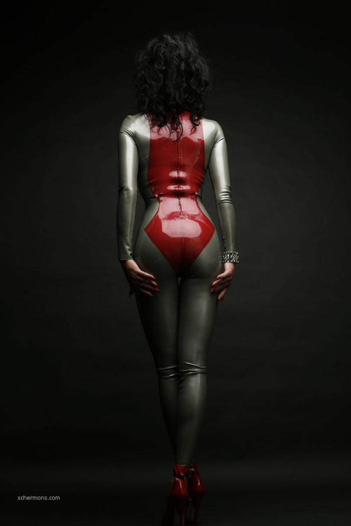 Latexfotografie - Latex Catsuit