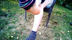 Füße, Fusssohlen, Beine, Socken