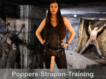 Poppers und Strapon Training