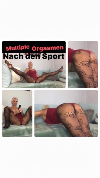 Multiple Orgasmen mit Domi nach den Sport