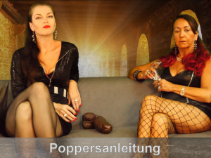 Anleitung von zwei Poppers Herrinnen