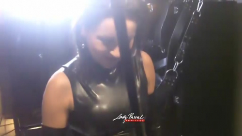 Lady Pascal - Ball Busting in Heavy Rubber