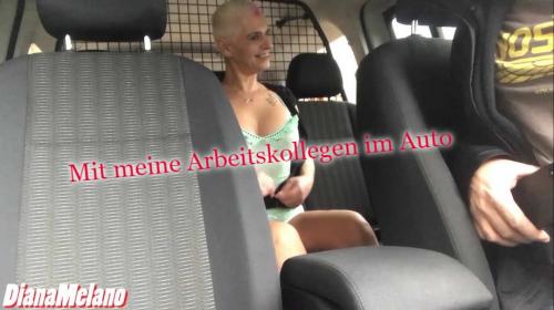 Gnadenloser Hardcorefick im Auto mit Arbeitskollege