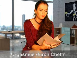 Entspannter Orgasmus durch die Chefin
