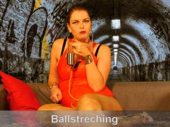 Ballstreching mit Seil und Gewichten