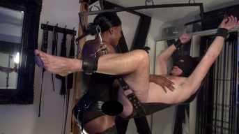 Mistress Kiana - Deep Strapon on the Sling