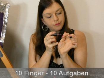 10 Aufgaben pro lackiertem Finger