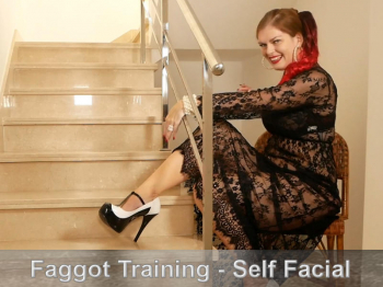 Faggot Training - Self Facial Finish