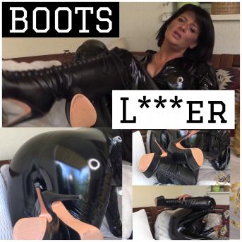 Boot Lecker! Leck sie sauber!
