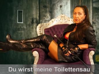 Lederherrin macht Dich zur Toilettensau