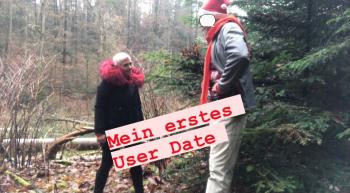 Mein erstes User Date im Wald .... mit lecker Spermaküsse