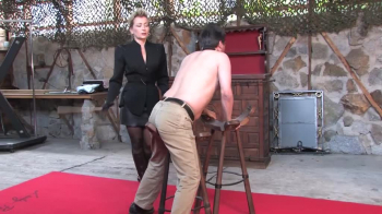 Lady Pascal - Caned by the Business Lady